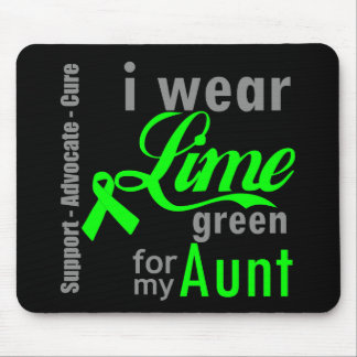 Lymphoma Lime Green Ribbon For My Aunt Mousepad