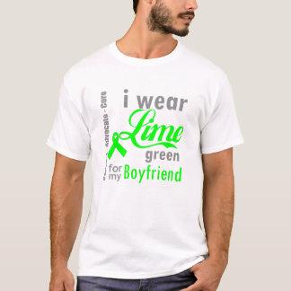 Lymphoma Lime Green Ribbon For My Boyfriend T-Shirt