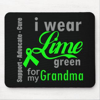 Lymphoma Lime Green Ribbon For My Grandma Mousepads