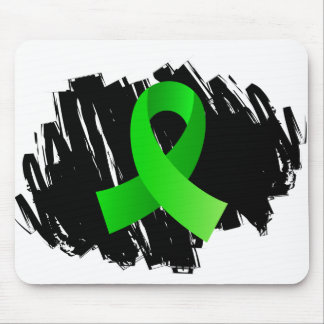 Lymphoma Lime Green Ribbon With Scribble Mousepad