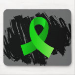 Lymphoma Lime Green Ribbon With Scribble Mousemats