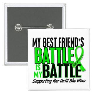 Lymphoma My Battle Too 1 Best Friend (Female) 15 Cm Square Badge