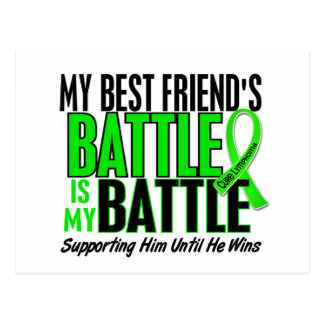 Lymphoma My Battle Too 1 Best Friend (Male) Postcard