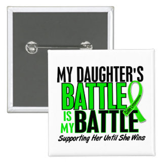 Lymphoma My Battle Too 1 Daughter 15 Cm Square Badge
