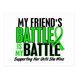 Lymphoma My Battle Too 1 Friend (Female) Postcard