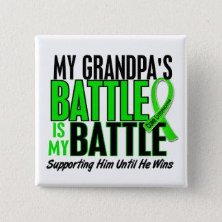 Lymphoma My Battle Too 1 Grandpa 15 Cm Square Badge