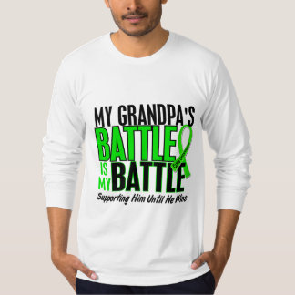 Lymphoma My Battle Too 1 Grandpa T-Shirt