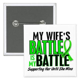 Lymphoma My Battle Too 1 Wife 15 Cm Square Badge