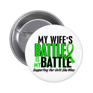 Lymphoma My Battle Too 1 Wife 6 Cm Round Badge