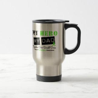 LYMPHOMA My Hero My Dad We Will Win Stainless Steel Travel Mug