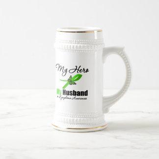 Lymphoma My Hero My Husband Mugs
