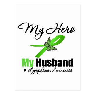 Lymphoma My Hero My Husband Postcard