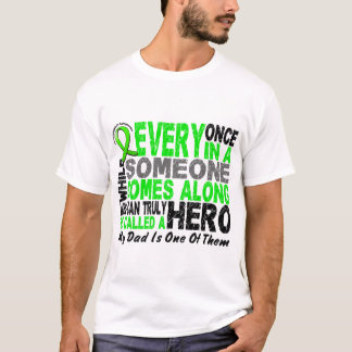 Lymphoma Non-Hodgkins HERO COMES ALONG 1 Dad T-Shirt