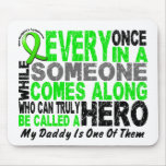 Lymphoma Non-Hodgkins HERO COMES ALONG 1 Daddy Mouse Pads