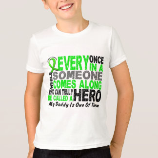 Lymphoma Non-Hodgkins HERO COMES ALONG 1 Daddy T-Shirt