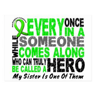 Lymphoma Non-Hodgkins HERO COMES ALONG 1 Sister Postcard