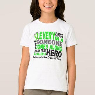 Lymphoma Non-Hodgkins HERO COMES ALONG Grandfather Tshirts