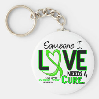 Lymphoma NonHodgkins NEEDS A CURE 2 Basic Round Button Key Ring