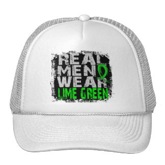 Lymphoma Real Men Wear Lime Green Trucker Hat