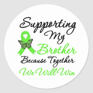 Lymphoma Support (Brother) Round Stickers