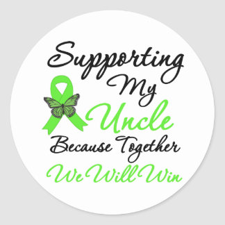 Lymphoma Support (Uncle) Round Sticker
