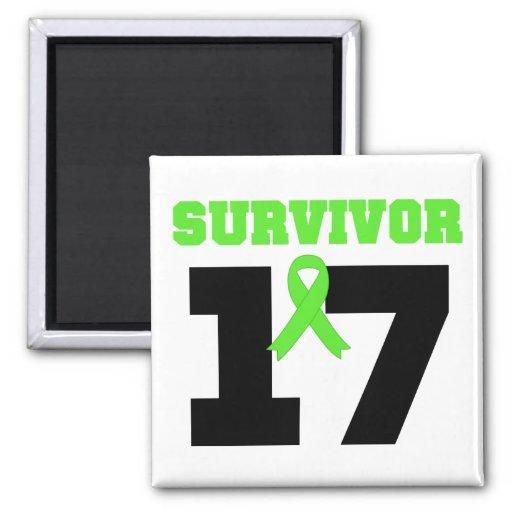 LYMPHOMA Survivor 17 Years Magnets