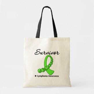 Lymphoma Survivor Gemstone Ribbon Bag