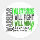 Lymphoma Warrior Classic Round Sticker