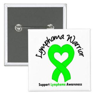 Lymphoma Warrior Heart 15 Cm Square Badge