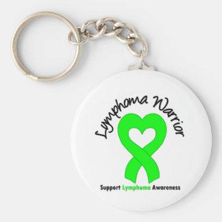 Lymphoma Warrior Heart Basic Round Button Key Ring