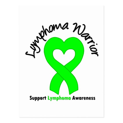 Lymphoma Warrior Heart Post Cards