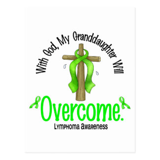 Lymphoma With God My Granddaughter Will Overcome Postcard