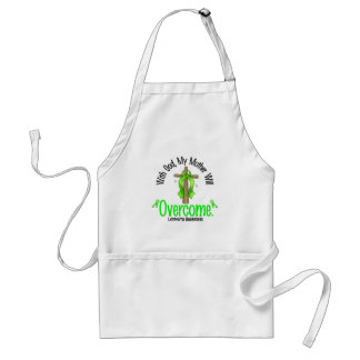 Lymphoma With God My Mother Will Overcome Standard Apron