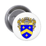 Lynch Coat of Arms (Mantled) 6 Cm Round Badge