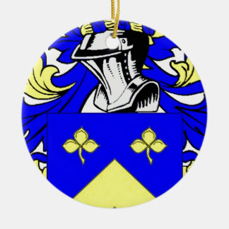 Lynch Coat of Arms Round Ceramic Decoration