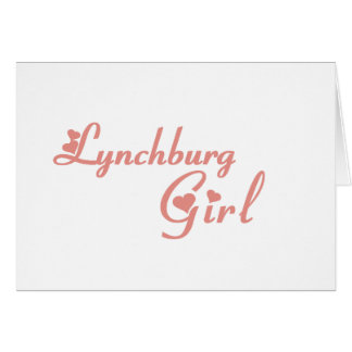 Lynchburg Girl tee shirts Card