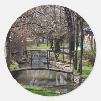 Lynchburg TN limestone creek Round Sticker