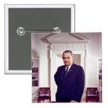 Lyndon B Johnson 15 Cm Square Badge