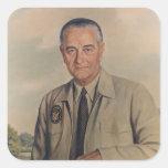 Lyndon B. Johnson - Elizabeth Shoumatoff (1969) Square Stickers
