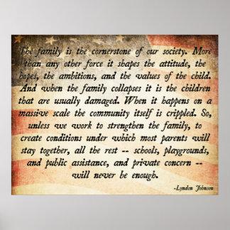 Lyndon Johnson Quote Poster