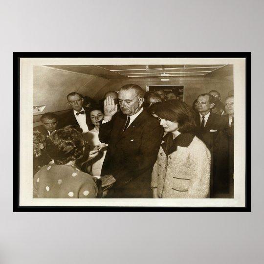 Lyndon Johnson Taking Oath on Air Force One