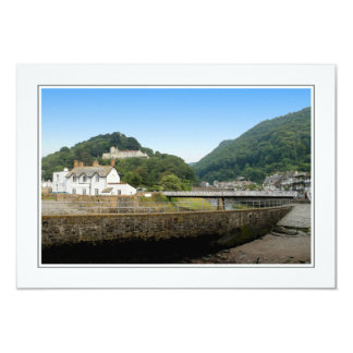 Lynmouth and Hills. 9 Cm X 13 Cm Invitation Card