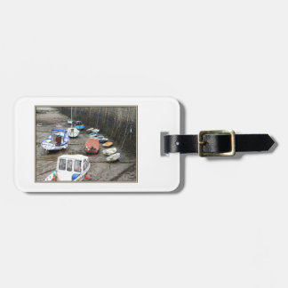 Lynmouth Harbor with Boats. Luggage Tag
