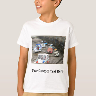Lynmouth Harbor with Boats. T-Shirt