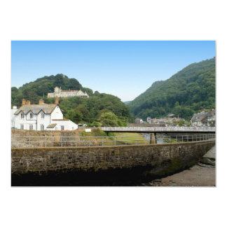 Lynmouth in Devon, England. 13 Cm X 18 Cm Invitation Card