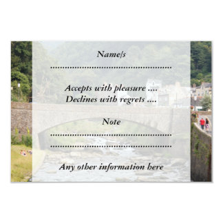 Lynmouth in Devon, England. 9 Cm X 13 Cm Invitation Card