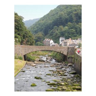 Lynmouth in Devon, England. Flyer