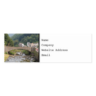 Lynmouth in Devon, England. Pack Of Skinny Business Cards