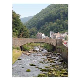Lynmouth in Devon, England. Postcard