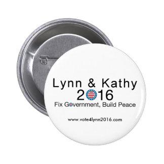 Lynn & Kathy 2016 6 Cm Round Badge